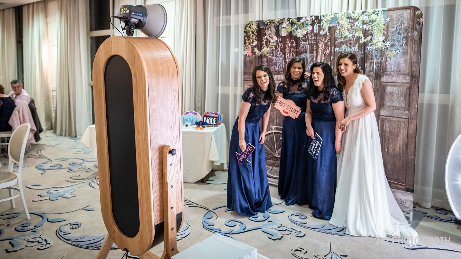 Retro Magic Mirror Photo Booth for Wedding