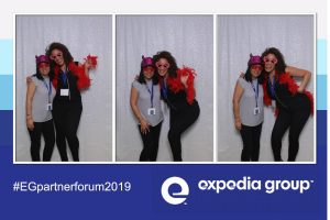 trade show selfie station Expedia Selfie Station Photo Booth